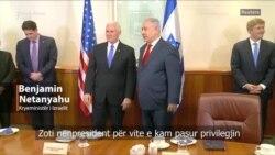 Pence takon Netanyahun në Jerusalem
