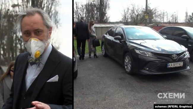 Суддя Ігор Сліденко також використовував службове авто для поїздки до Голосіївського суду