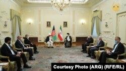 ابراهیم رئیسی، رئیس جمهور جدید ایران و محمد اشرف غنی رئیس جمهور افغانستان
