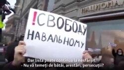 Proteste în toată Rusia în susținerea criticului Kremlinului Alexei Navalîi