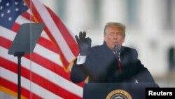 Выступление Дональда Трампа в Вашингтоне 6 января.