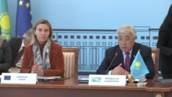 Mogherini Signs Kazakh Deal At Central Asia Talks