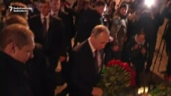 Putin Lays Flowers For St. Petersburg Blast Victims