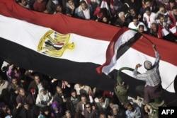 Каир, площадь Тахрир. 8 февраля 2011 года