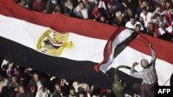 محتجون ضد نظام الرئيس المصري حسني مبارك