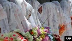 Младоженки по време на масова сватба в Афганистан