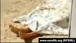 Тело 33-летней жительницы Янгиюльского района Ташкентской области, жестоко убитой собственным мужем.
