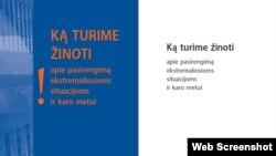 Broşura de 98 de pagini distribuită de autorităţi populaţiei