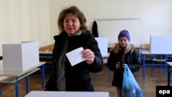 Pamje nga votimet në Kroaci