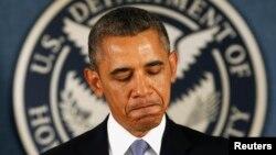 Барак Обама виступає в Федеральному агентстві з надзвичайних ситуацій, Вашингтон, 7 жовтня 2013 року