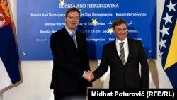 Denis Zvizdić i Aleksandar Vučić u Sarajevu, 04. novembra 2015