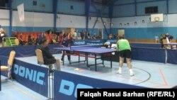 من منافسات البطولة الدولية السابعة لكرة الطاولة للمعاقين في عمّان