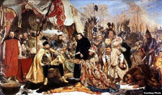 Карціна Яна Матэйкі «Стэфан Баторы пад Псковам»