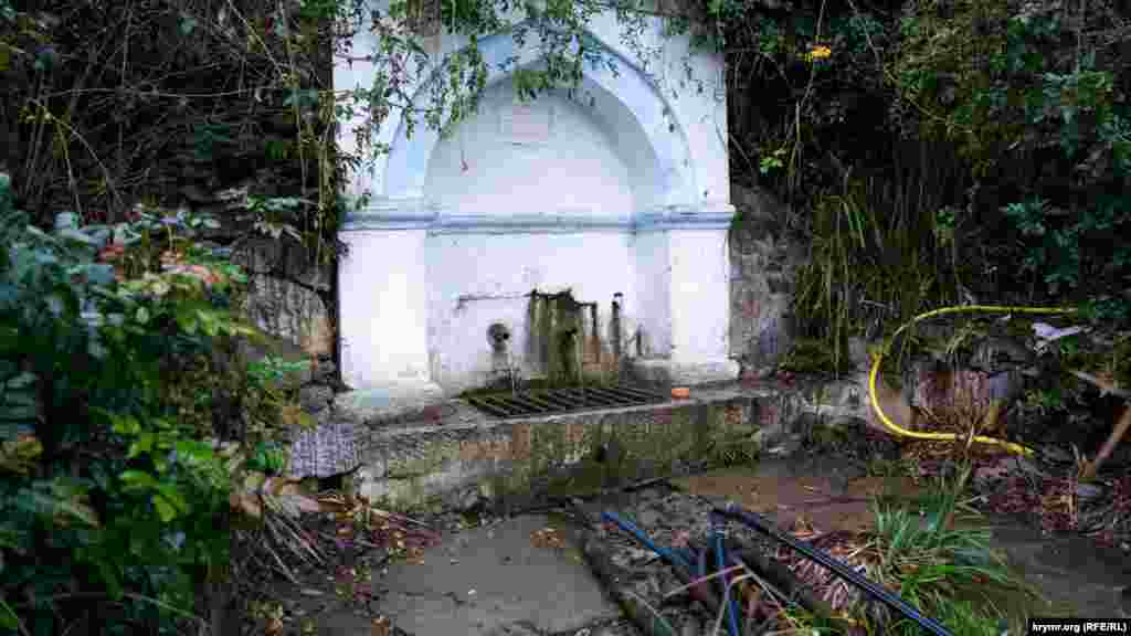 Старинный источник на окраине села используют для полива огородов