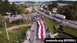 Польско-белорусская граница рядом с погранпереходом Кузница. 20 сентября 2020 года.
