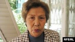Құқық қорғаушы Баретта Ерғалиева. Алматы, 11 қыркүйек 2009 жыл.