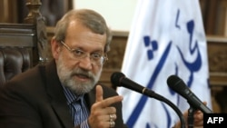 Iranian parliament speaker Ali Larijani (file photo)