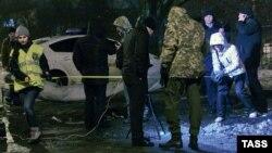 Міліція на місці вибуху, Харків, 19 січня 2014 року