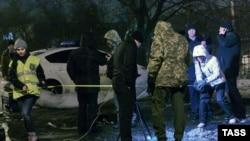 Policia në vendin e shpërthimit në qytetin Harkov