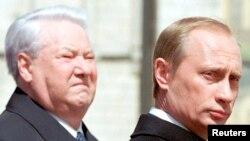 Барыс Ельцын і Ўладзімер Пуцін. Травень 2000 году.