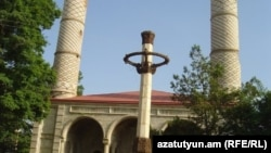 Nagorno-Karabakh - Yukhari Govhar Agha Mosque in Shushi, July 2011.