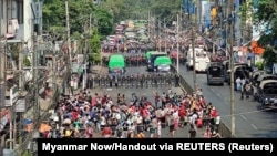 Մյանմա - Բողոքի ցույցը Յանգոնում, 6-ը փետրվարի, 2021թ․