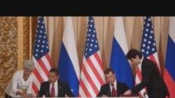 Օբաման եւ Մեդվեդեւը փաստաթղթեր են ստորագրում