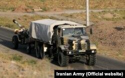 نمایی از انتقال تجهیزات رزمایش فاتحان خیبر به شمالغرب ایران