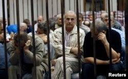 Українські в'язні на слуханні в Вищому військовому суді у Тріполі, 10 квітня 2013 року
