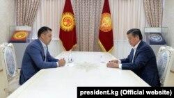 Встреча президента Сооронбая Жээнбекова с Садыром Жапаровым.