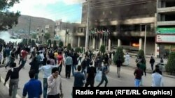 Tensions have been high in the mainly ethnic-Kurdish town of Mahabad in Iran after the suspicious death of a chambermaid sparked an outbreak of violence on the city's streets. 15