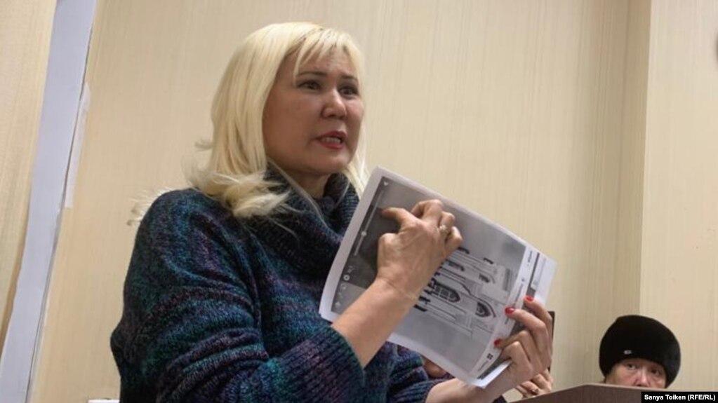 Гражданская активистка из Алматы Санавар Закирова. Нур-Султан, 12 декабря 2019 года.