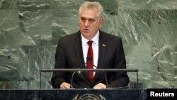 Tomislav Nikolić na zasedanju Generalne skupštine UN, septembar 2012.
