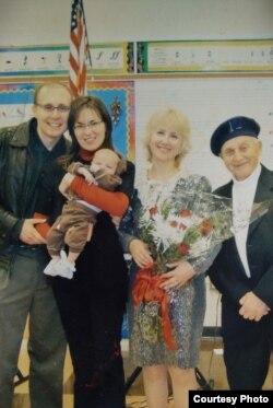 Васіль Гаўрылавіч Сьмелякоў разам з сямьёй