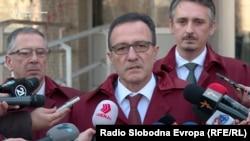 Одбраната на првоосомничениот Сеад Кочан во предметот Труст, адвокатот Никола Додевски
