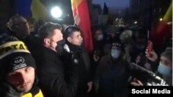 Partidul AUR a organizat un protest în fața Ministerului Sănătății