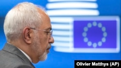 Iranian Foreign Minister Javad Zarif arrives for a meeting of the foreign ministers from Britain, France and Germany and EU foreign policy chief Federica Mogherini, at the Europa building in Brussels, Tuesday, May 15, 2018. File photo