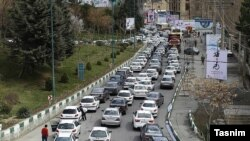 Traffic jam in the road between Tehran to Challus in the north of Iran. File photo