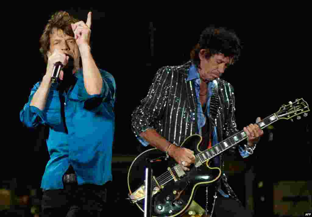 The Stones perform near the Adriatic town of Budva in Montenegro in July 2007.