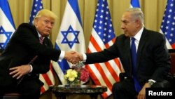 Дональд Трамп и Биньямин Нетаньяху. Иерусалим, 22 мая 2017