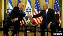 Израиль. Дональд Трамп и Биньямин Нетаньяху. Иерусалим, 22.05.2017