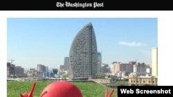 Bakıda Trump otel qülləsi - Washington Post-dan görüntü