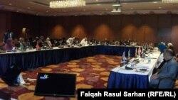 جلسة في مؤتمر التنمية المستدامة ومكافحة الفقر في عمّان