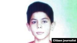 علیرضا، نوجوانی که گفته شده است، در بهشت زهرا به دست نیروهای امنیتی ایران کشته شده است.