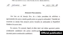 Comunicatul semnat de Igor Dodon