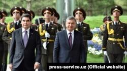 Туркманистон президенти Гурбангули Бердимуҳамедов 23 апрелда Ўзбекистонга икки кунлик давлат ташрифи билан келди.