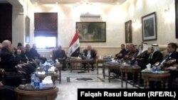 جانب من لقاء النجيفي بممثلي الجالية العراقية في الاردن