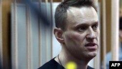Російський опозиціонер Олексій Навальний на засіданні суду, який заарештував його на 15 діб після того, як він був затриманий перед акцією протесту в Москві, фото 27 березня 2017 року