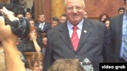 Vojislav Šešelj u parlamentu Srbije