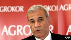 Ante Ramljak, crisis manager of Balkan food and retail giant Agrokor, in Zagreb on November 9.